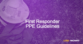 First Responder PPE Guidelines